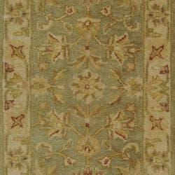 Handmade Antiquities Gem Green Wool Runner (2'3 x 20')