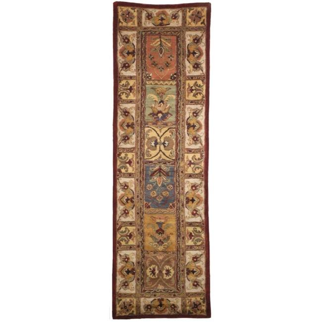 Safavieh Handmade Classic Bakhtieri Multicolored Wool Rug (2'3 x 16')