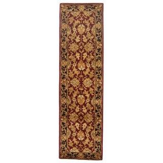 Safavieh Handmade Heritage Kashan Burgundy/ Black Wool Runner (2'3 x 20')