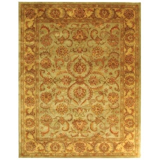 Safavieh Handmade Heritage Kermansha Green/ Gold Wool Rug (12' x 15')