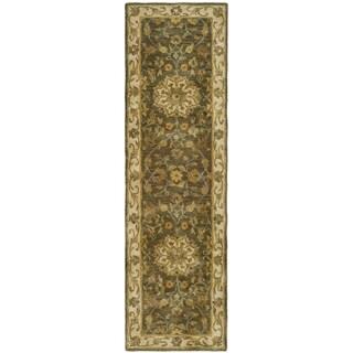 Safavieh Handmade Heritage Taupe/ Ivory Wool Runner (2'3 x 16')