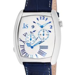 Joshua & Sons Men's Quartz Stainless Steel Dual Time Strap Watch