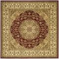 Lyndhurst Collection Red/ Ivory Rug (6' Square)
