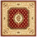 Safavieh Lyndhurst Collection Traditional Red/ Ivory Rug (6' Square)