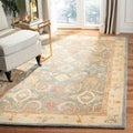 Handmade Legacy Light Blue Wool Rug (8' Square)