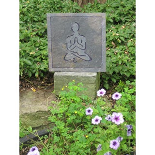 Yoga and Meditation 'Namaste' Hand-carved Artisan Stone Tile