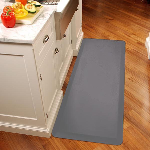 wellnessmats grey anti fatigue kitchen mats 72 in x 24 in