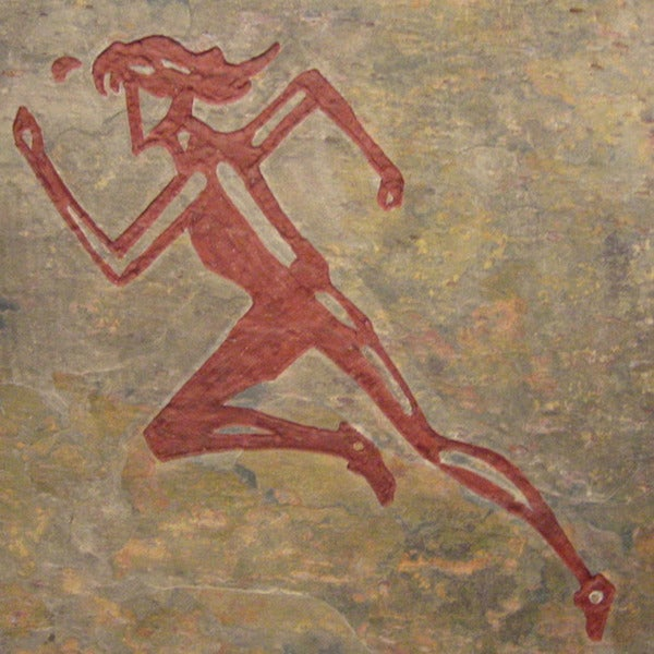 Art for the Female Runner 'Run Like the Wind' Artisan Rile