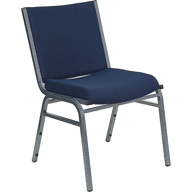 Heavy Duty Navy Patterned Upholstered Stack Chair (Case of 40)