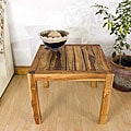 Farmed Teak Tung Oil Finished Inlay End Table (Thailand)