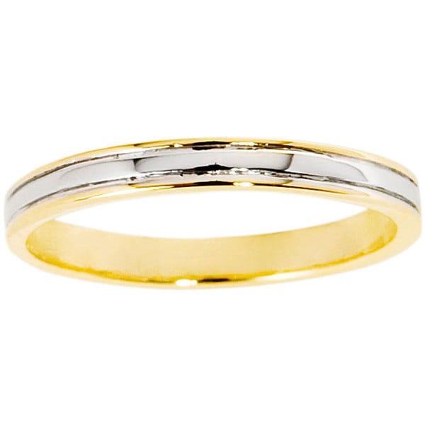 NEXTE Jewelry 14k Gold Overlay Railed Women's Band (3 mm)