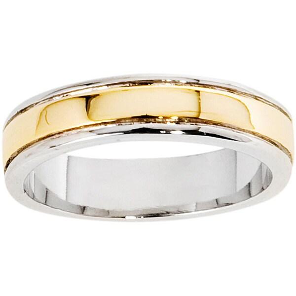 NEXTE Jewelry 14k Gold Overlay Women's Center Ridge Band (5 mm)