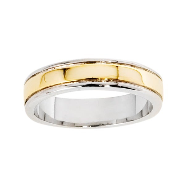 NEXTE Jewelry 14k Gold Overlay Women's Center Ridge Band (5 mm)
