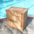 Le Spa Premium Teak Laundry Hamper