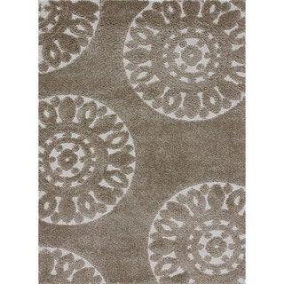 Jullian Beige Shag Rug (7'7 x 10'6)