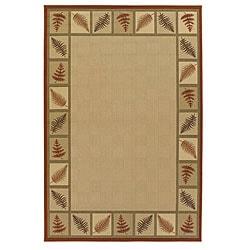 Mandara Beige Floral Rug (5' x 8')