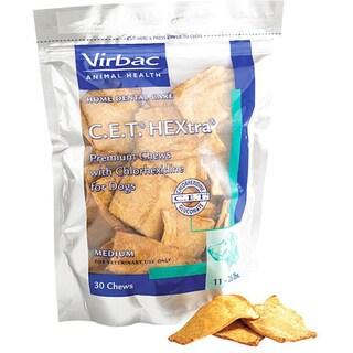 30-count Medium CET HEXtra Premium Oral Hygiene Dog Chews (Pack of 3)