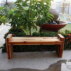 Farmed Teak Wood Block Bench (Thailand)