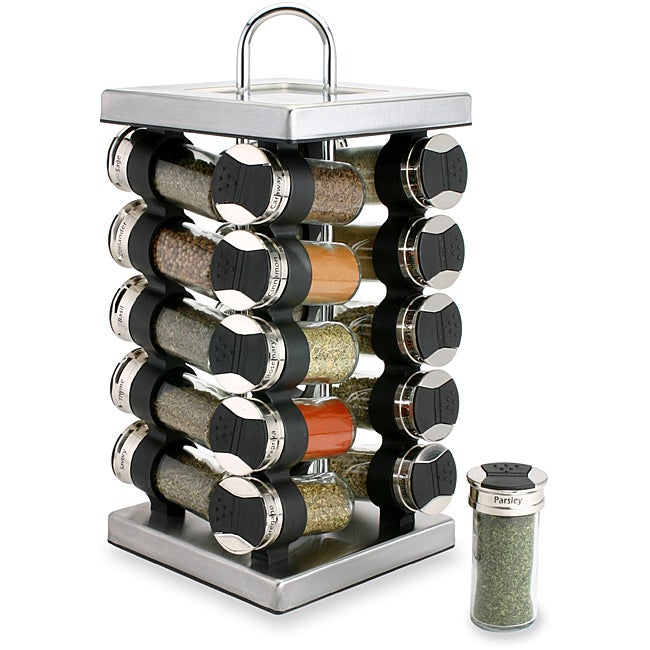 Olde Thompson 20-jar Square Stainless Steel Spice Set