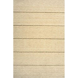"Loft Ivory Stripes Hand-Loomed Wool Rug (7'6"" x 9'6"")"