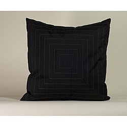 'Pyramid' Black 20x20-inch Decorative Pillow