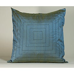 'Pyramid' Aqua 20x20-inch Decorative Pillow