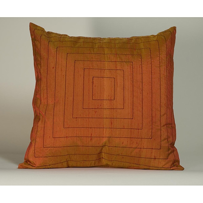 'Pyramid' Orange 20x20-inch Decorative Down Fill Pillow