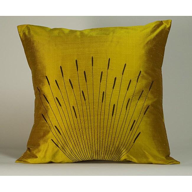 'Branches' Orange 20x20-inch Decorative Pillow