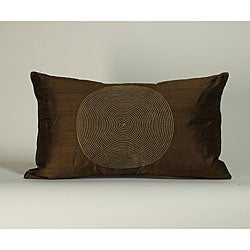 'Spiral' Chocolate 12X20-inch Decorative Pillow