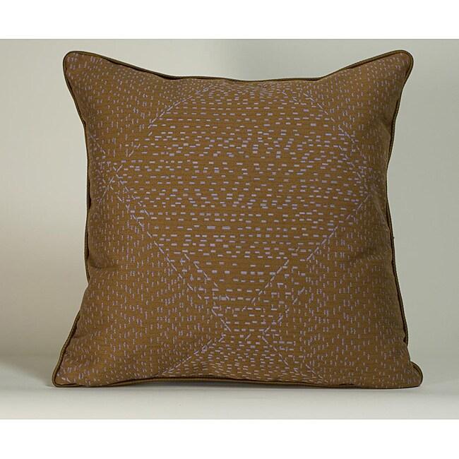 'Traks' Purple/ Brown 20x20-inch Decorative Pillow