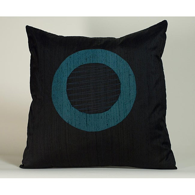 'Washer' Black 20x20-inch Decorative Pillow