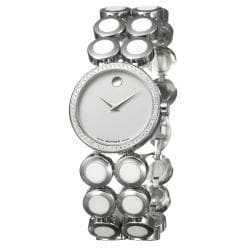 Movado Women's 'Ono Moda' Stainless Steel And Ceramic Diamond Watch