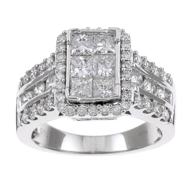 Eloquence 14k White Gold 2ct TDW Diamond Engagement Ring (H-I, I1-I2)