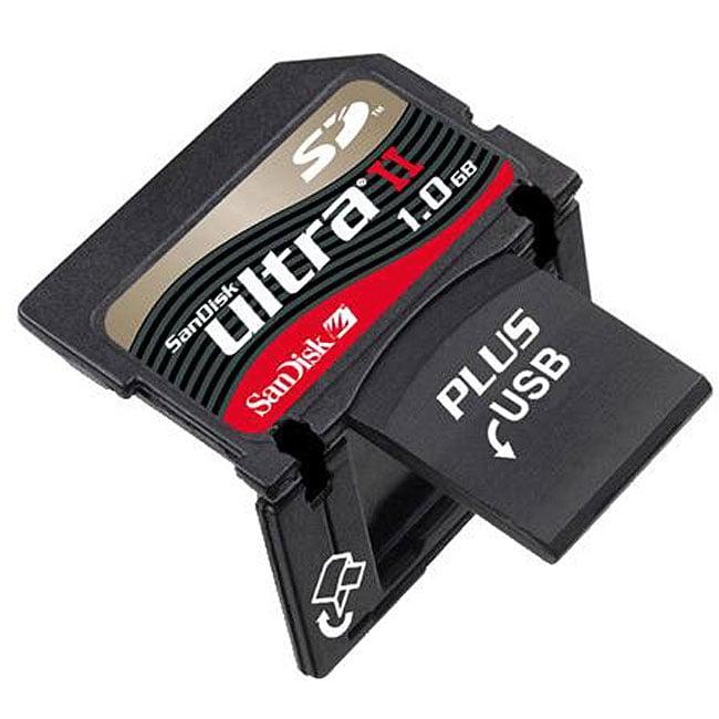 SanDisk 1GB Ultra II SD Plus USB Flash Memory Card (Bulk Packaging)