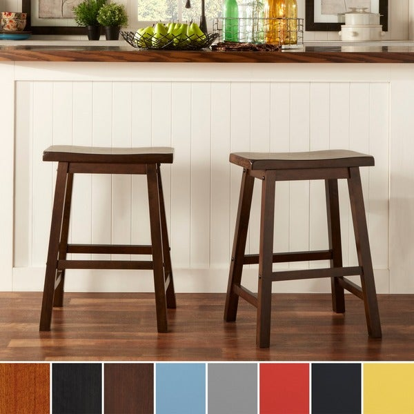 TRIBECCA HOME Salvador Saddle Back 24 Inch Counter Height Stool Set Of 2