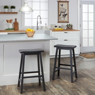 TRIBECCA HOME Salvador Saddle Back 29-inch Bar Height Stool (Set of 2)