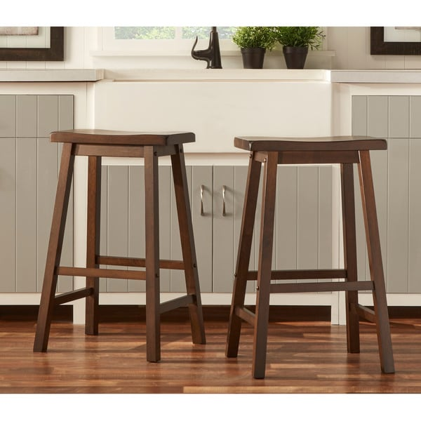 Counter Height Saddle Stools : TRIBECCA HOME Salvador Saddle Back 29-inch Bar Height Stool (Set of 2 ...