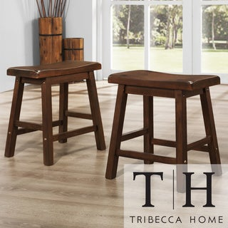 Tribecca Home Salvador Saddle Back 18 Inch Stool Set Of 2