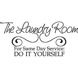 'Laundry Room Same Day Service' Vinyl Wall Art Quote