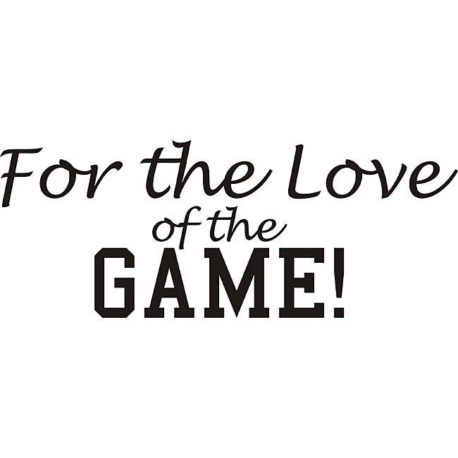 Design on Style 'For the Love of the Game' Vinyl Wall Art ...