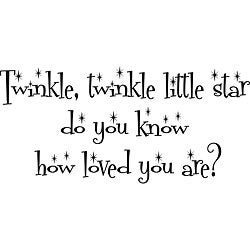 'Twinkle Twinkle Little Star' Vinyl Wall Art Quote