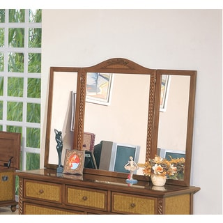 International Caravan Nigel 54-inch by 40-inch Tri-Fold Mirror