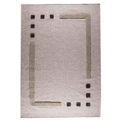 Hand-woven Cara Grey Wool Rug (4'6 x 6'6)