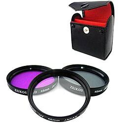 Zeikos 46mm Multi-coated Glass Filter Kit