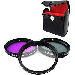 Zeikos 77-mm Multi-coated Glass Filter Kit