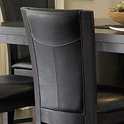 Portman Dark Brown Faux Leather 24-inch Counter-height Chairs (Set of 2)