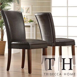 Decor Faux Alligator Print Dining Chair