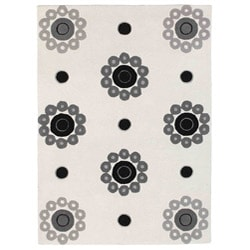 Hand-tufted Como White Wool Rug (8'3 x 11'6)