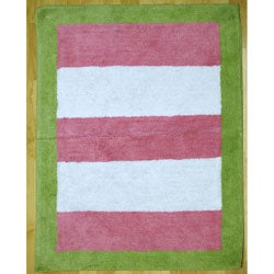 My Baby Sam Paisley Splash in Pink and Lime Striped Rug