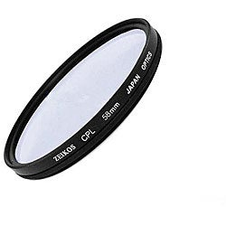 Zeikos 58-mm Multicoated Circular Polarizer Glass Lens Filter